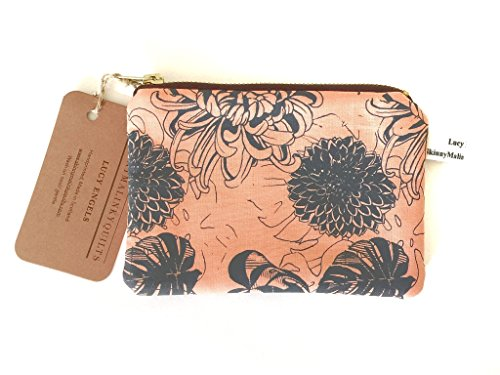 - 51Nvn6KRJmL - Pink Coin Purse, Monstera Floral Change purse with Zip