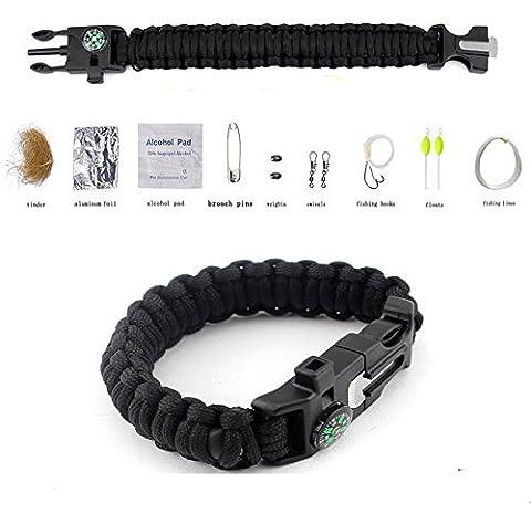 Bracelet de survie, MOACC Kits de survie en extérieur multifonction