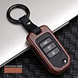 LUOERPI Cas de Couverture de Poche de Fob de clé de Voiture d'alliage de Fibre de Carbone, pour Honda Civic CR-V Accord HR-V Accord Jade Crider Odyssey 2015-18 Protecteur clé à Distance