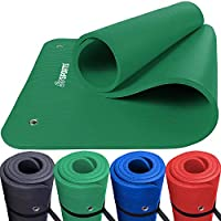 ScSPORTS – con Ojales para Gimnasia, Color Verde, tamaño 185 x 80 x 1,5 cm, 1.5, 185 x 80 x 1.5centimeters