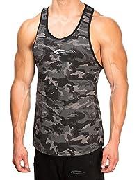 SMILODOX Camouflage Stringer Herren | Muskelshirt mit Aufdruck für Gym Fitness & Bodybuilding | Muscle Shirt - Unterhemd - Achselshirt - Trainingshirt Kurzarm