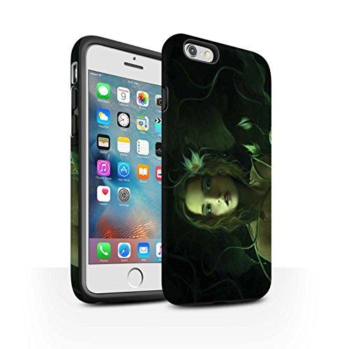Officiel Elena Dudina Coque / Matte Robuste Antichoc Etui pour Apple iPhone 6+/Plus 5.5 / Cerises Rouges Design / Un avec la Nature Collection Bain Caché