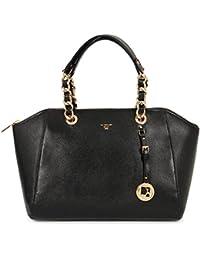 Da Milano Women's Handbag (Black) (LB-2069_BLACK_SAFFIANO)
