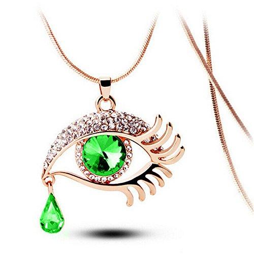 Lialbert Augen Und TräNen Diamantschmuck, Halskette Damen Mode Lange Strass AnhäNger Kette Geschenk FüR Frauen
