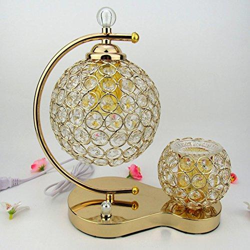 Cristal Lámpara de mesa, decorar Fragrance lámpara Fino aceite Roman–Mesa Lámpara de noche Leuchten para dormitorio tienda Beauty Salud ayuda dormir especial