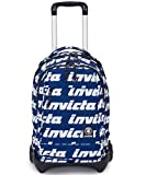 TROLLEY INVICTA - PLUG LETTERING - Blu - Zaino SGANCIABILE e LAVABILE - Scuola e viaggio 35 LT