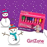 Enlarge toy image: Hair Chalk Christmas Gift For Girls – 10 Colourful Pens - Washes Out Easily With No Mess – 10 Metallic, Glitter & Colour Pens, For All Hair Colours - 80 Applications Per Chalk Pen -  preschool activity for young kids