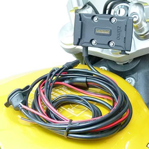 13.3mm - 14.7mm (0.52 ' - 0.58 ') Asse Bici Supporto Hardwire Funzionamento Dock Fondina per Garmin Zumo 590 595