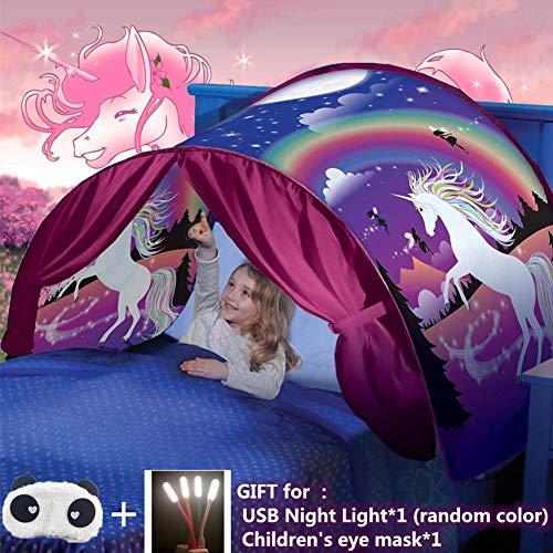 Traumzelt, Bettzelt, Dream Tent,Drinnen Kinder, Kid\'s Fantasy, Kinder Schlafzimmer Dekoration,Geschenke für Kinder (Einhorn)