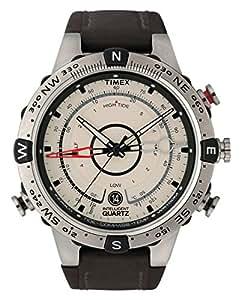 Timex Intelligent Quartz Tide Temp Compass Brown Leather Strap T2N721