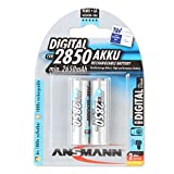 ANSMANN Mignon AA Akku Typ 2850mAh NiMH hochkapazitiv Profi Digital Kamera-Akkubatterie (2er Pack)