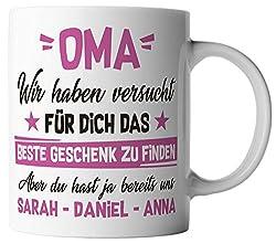 vanVerden Tasse - Oma Wir haben versucht für dich das beste Geschenk zu finden, aber du hast ja bereits uns - Wunschnamen anpassbar personalisiert