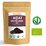 Poudre de Baies d'Açai Bio [Freeze-Dried] 200g. Pure Organic Acai Berry Powder. 100% Produit au Brésil, Lyophilisé, Cru, extrait de la pulpe de baie d'acaï. Superfood riche en antioxydants, vitamines.
