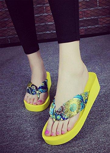 pengweiDamen Sommer Sandalen mit Fischgr?t Hausschuhe Verdickung Sohlen Strand Schuhe Clip F¨¹?e Hausschuhe 3
