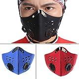 Damen und Herren Outdoor Sport emissionskontrollvorrichtungen Carbon Tuch Maske Filter Luftschadstoff Staub Schutz für Fahrrad fahren Reisen Blau blau