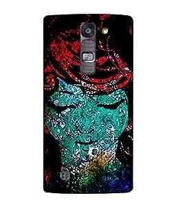 PrintVisa Designer Back Case Cover for LG G4 Mini :: LG G4c :: LG G4c H525N (Calm sweet lady face blue red black shades)