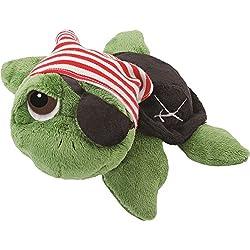 Juguete de peluche de tortuga pirata.