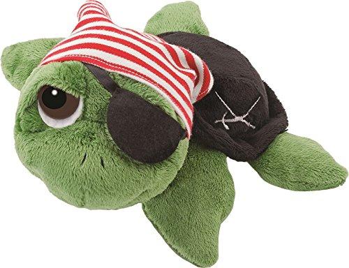 Unbekannt Li\'l Peepers 14185 - Original Suki Plüschtier Schildkröte Rocky als Pirat, 25.4 cm, grün