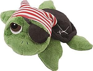 Suki Gifts Pirate Tortuga Negro, Verde, Rojo, Color Blanco - Juguetes de Peluche (Tortuga, Negro, Verde, Rojo, Color Blanco, 254 mm)