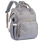 Baby Changing Backpack Bag by BabyLion with Changing Mat and Stroller Straps