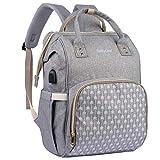 BabyLion Wickelrucksack - Wickeltasche mit Wickelunterlage, isolierten Taschen, große Kapazität, wasserdichter Reiserucksack, stilvoll, multifunktional, elegant,...