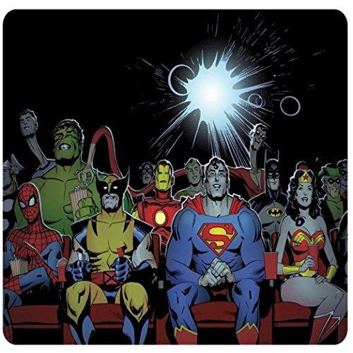 Funny Superman Spiderman Iron Man Marvel Lobezno Wonder Woman Linterna Verde superhéroes DC Comics Rectángulo Wars antideslizante alfombrilla de goma alfombrilla de ratón alfombrilla de ratón