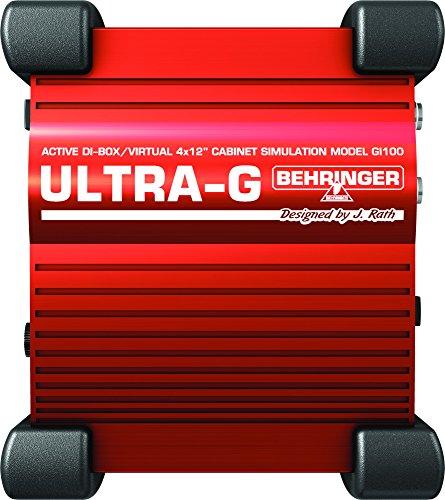 """Behringer GI100 Ultra-G Di-Box Attiva con Simulatore Cabinet 4x12"""""""