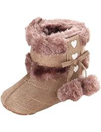 Zapatos Bebé,Xinantime Botas de Nieve Suaves Chica Calientes Niño Invierno (19, Khaki2)