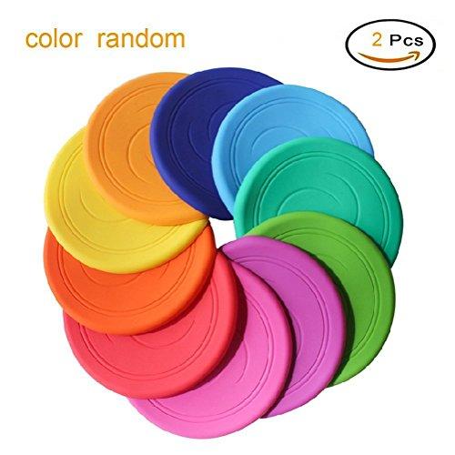 Nicht rutschen Soft Silikon Spielzeug Eltern Kind Zeit Outdoor Sport 2 Stück Farbe zufällig (Flying Disc Spielzeug)