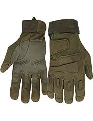 Mimicool Guantes al aire libre de los hombres llenos del dedo guantes tácticos militares patín de desgaste contra guantes resistentes ciclo de la bicicleta de la motocicleta (army green, XL)