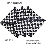 M I Fashions Roti Cover Cloth with Microfiber Padding Form - Traditional Chapati Cloth Cover - Keep Chapati Fresh & Soft for Longer time - Set of 3 Pieces (21x21 cm)