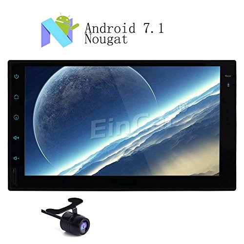Kostenlose Backup-Kamera inklusive! Eincar Car Stereo-Radio Android 7.1 Nougat OS 7-Zoll-HD 1080P Doppel-DIN-Head Unit Unterst¨¹tzungs-GPS-Navigation Bluetooth WIFI 3G 4G Dual CAM-IN OBD2 SWC Autoradio FM / AM RDS Receiver