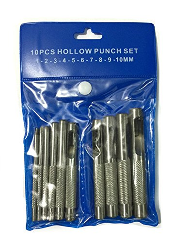 Yalulu 10pcs 1-10mm cuir en acier au carbone outil artisanal matrice poinçon accrochage kit setter rivet outils de maroquinerie diy