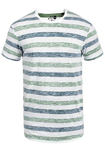 !Solid Tet Herren T-Shirt Kurzarm Shirt mit Streifen und Rundhalsausschnitt, Größe:S, Farbe:Creme de Menthe (3017) -