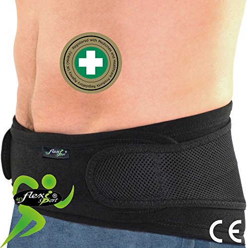 Faja Lumbar M, Negro Espalda Certificado Clínica