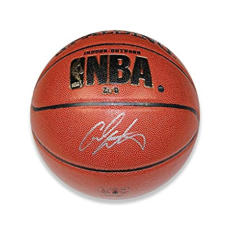 Icons Shop Unisex ICCAB1 Carmelo Anthony Signed Nba Spalding Indoor and Outdoor Basketball, Multi-Colour