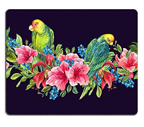 Msd Natural rubber Gaming Mousepad Image ID: 38740804 Seamless floreale esotico