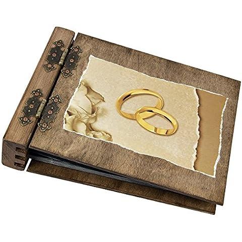 75hojas álbum de fotos de madera de boda matrimonio boda motivo