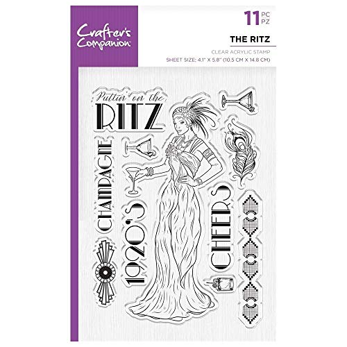 Crafters Companion Unmounted Clear Acrylic Stamp - Vintage - The Ritz