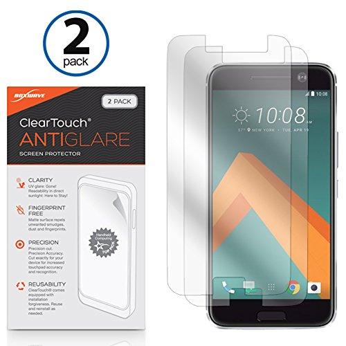 HTC One (M10) Bildschirmschutzfolie, BoxWave® [ClearTouch AntiGlare (2er Pack)] Anti-Fingerprint Matt Folie Haut für HTC One (M10)