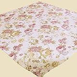 """Erstklassige Serie """" ROMANTIC ROSES """" in creme / rose mit zarten Pastelltönen - ein Schmuckstück in jedem Raum - Markenqualität - hoher Baumwolle - Anteil - zur Auswahl stehen Mitteldecken, Tischläufer und Kissenbezüge - aus dem KAMACA-SHOP (Mitteldecke 85x85 cm)"""