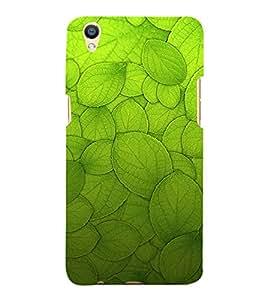 Leaf Design Pattern 3D Hard Polycarbonate Designer Back Case Cover for Oppo F1 Plus