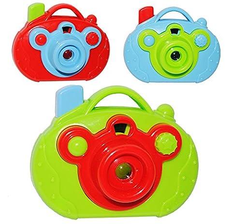 3 tlg. Set: Bilder - Dia - Projektor - mit LICHT ! - für Kinder Mädchen Jungen - Bildershow Kinderkino - Kino Kaleidoskop - Diaprojektor - auch als Mitgebsel - Kamera Kinderkamera Fotoapparat