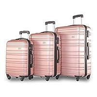 Merax ® Lightweight Luggage Hard Shell 4 Wheels Travel Trolley Suitcase Luggage Set Cabin Case 20/24/28