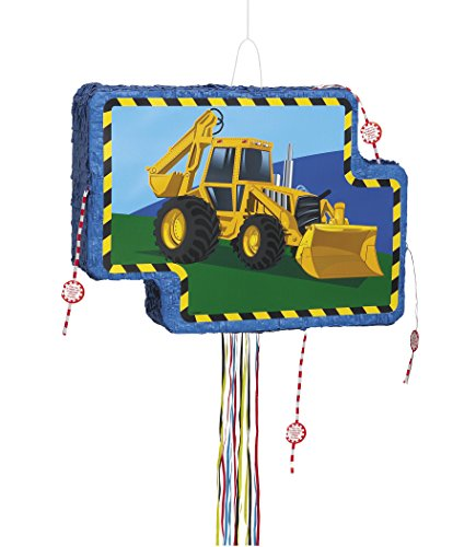 Unique Party Supplies Baustellen-/Bagger-Pinata, mit Zugband