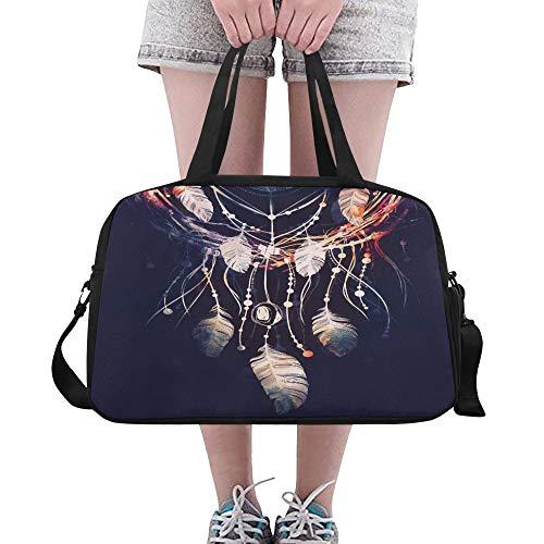 Bolsos de verano Atrapasueños de ramas de árbol Atributo de yoga Bolsos de gimnasia Bolsos de fitness Bolsos de lona Bolsa de zapatos para equipaje deportivo Bolsos de mujer para mujer Bolsos para niñ