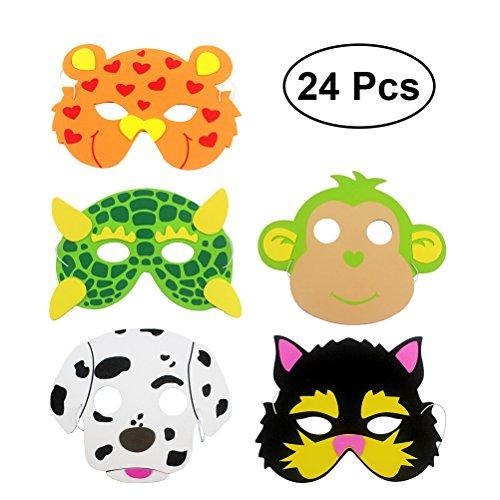 STOBOK 24 Stücke Tier Masken Superhelden Augenmaske Spielzeug Halloween Party Cosplay Kostüm für Kinder Mitgebsel Kindergeburstagen (Zufällige - Machen Sie Ein Kind Im Superhelden Kostüm