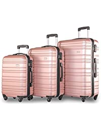 Merax Lightweight Hard Shell 4 Wheel Travel Trolley Suitcase Luggage Set Holdall Cabin Case(20/24/28/Set)