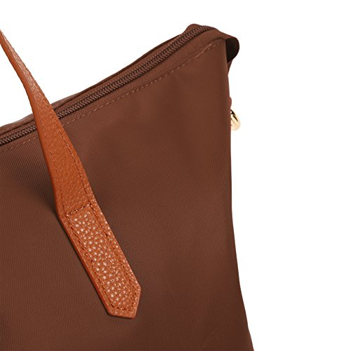 ECOSUSI Borse Tote Donna Shopper in Nylon Borse a Spalla per Donne Marrone