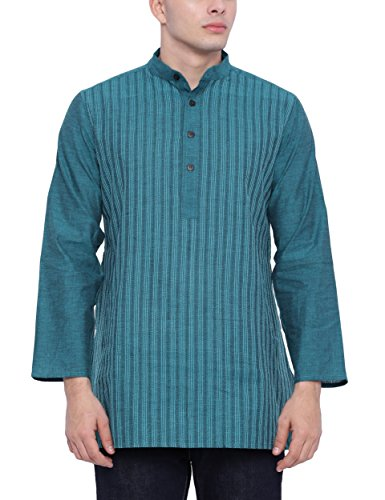 Fabindia Men's Mid-thigh Cotton Kurta